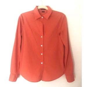 Theory Coral Medium Button Down Shirt